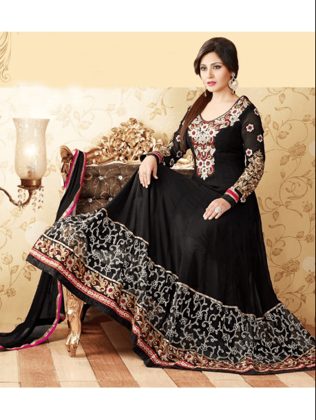 Black Anarkali Frock Design