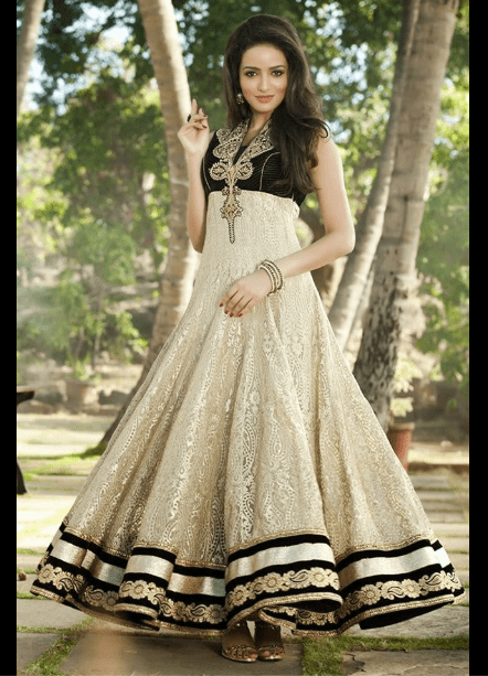 Black Anarkali frock dress