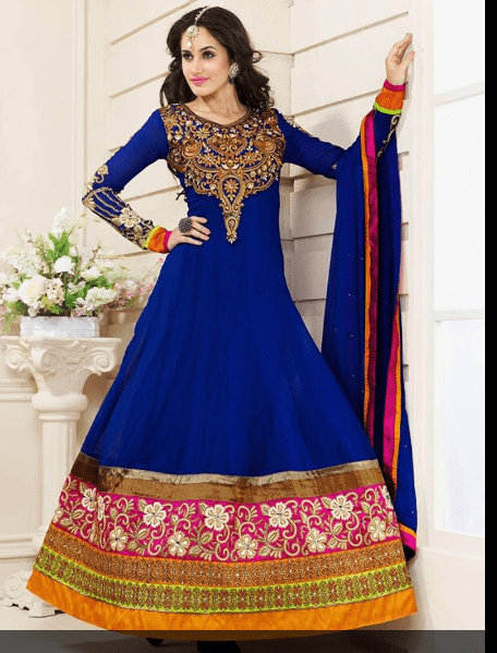 Blue Anarkali frock dresses