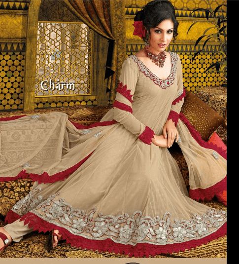Wedding Anarkali frock dress